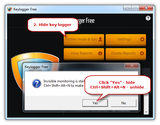 Hide/Unhide the Keylogger
